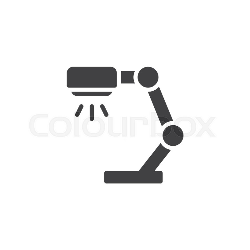 800x800 Reading Lamp Vector Icon. Filled Flat Sign For Mobile Concept And