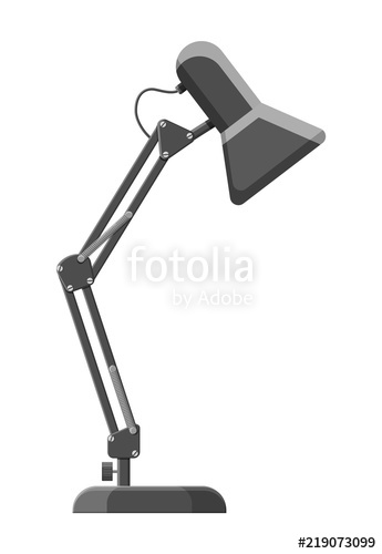 345x500 Table Lamp Icon. Modern Computer Desk Lamp. Vector Illustration In