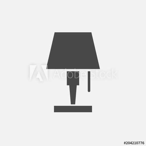 500x500 Desk Lamp Vector Icon For Studying And Reading