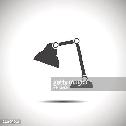 414x414 Desk Lamp Vector Icon Premium Clipart