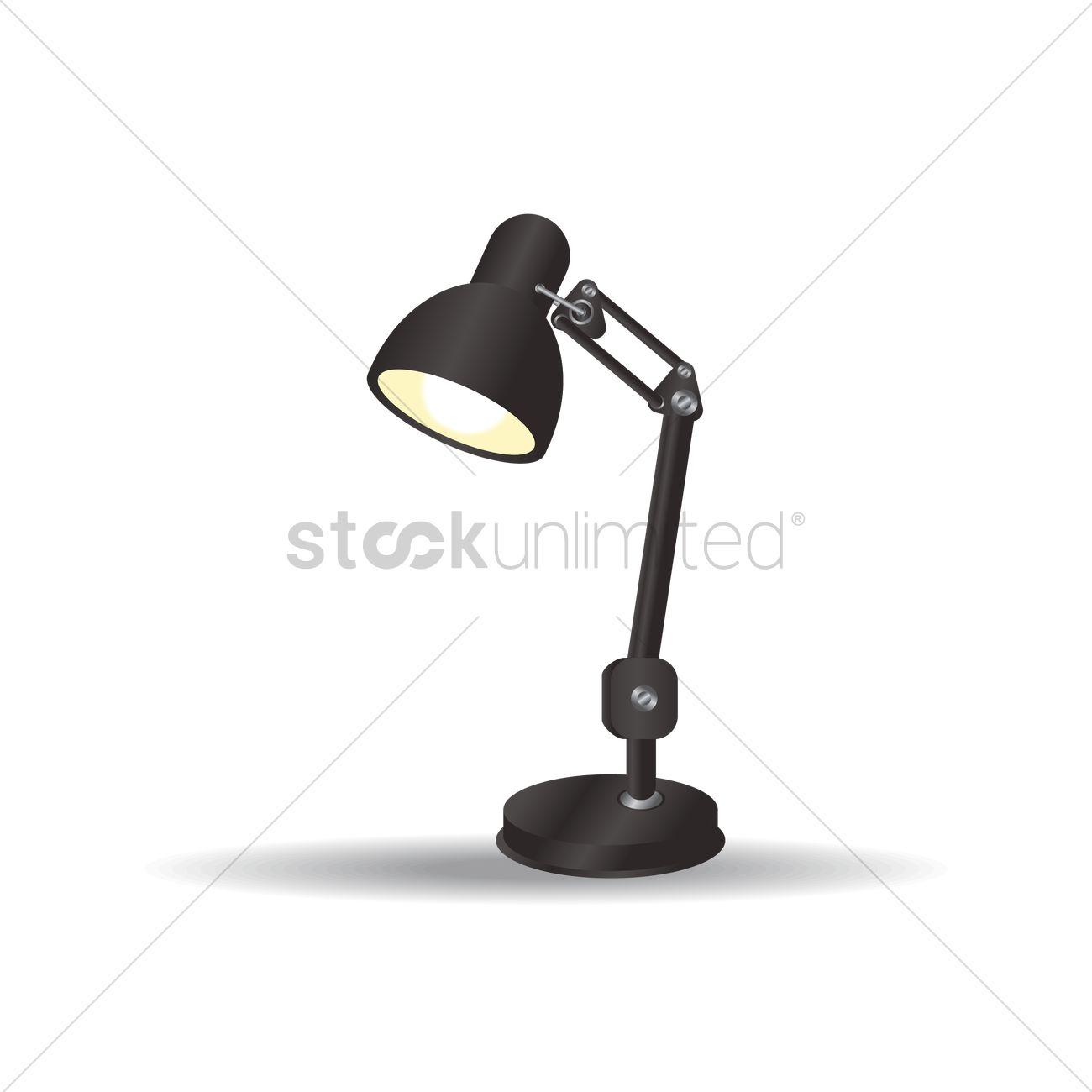 1300x1300 Desk Lamp Vector Image