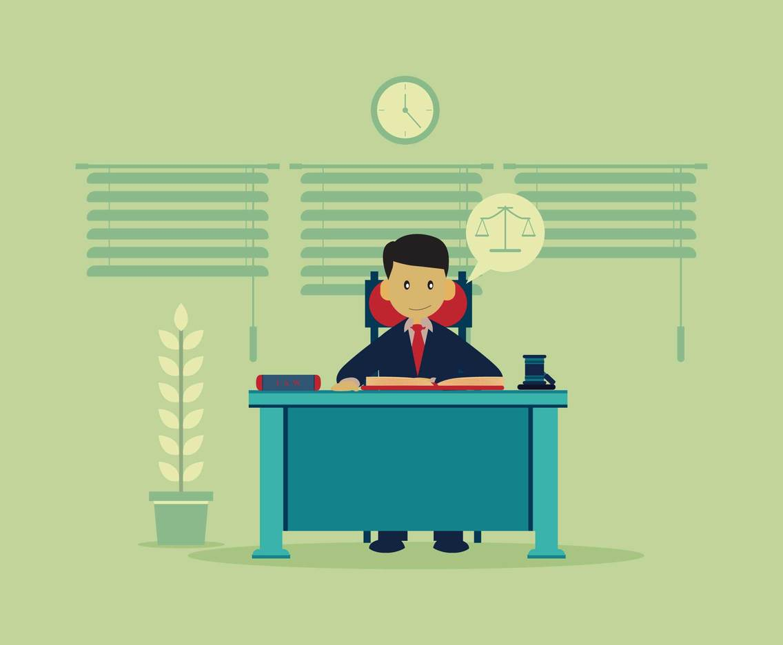1136x936 Lawyer At Desk Vector Illustration Vector Art Amp Graphics