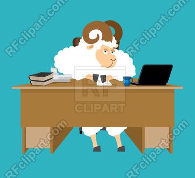 400x364 Ram Boss. Sheep Businessman