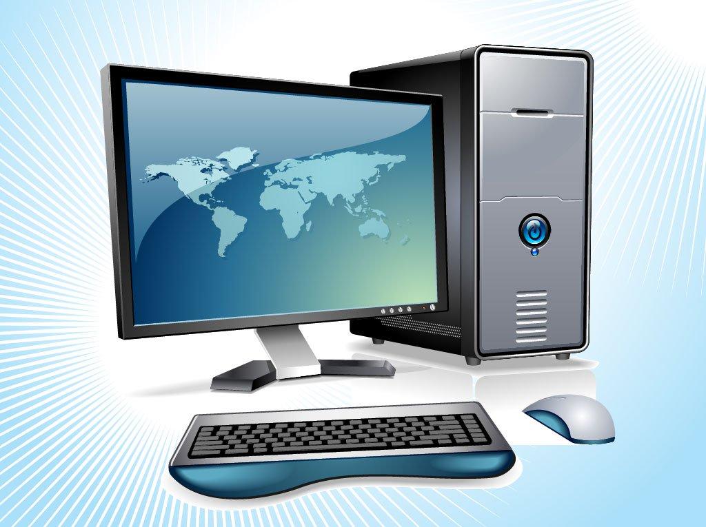 1024x765 Desktop Computer Vector Vector Art Amp Graphics