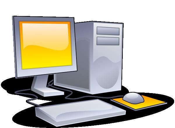 600x440 Desktop Computer Clip Art Free Vector 4vector