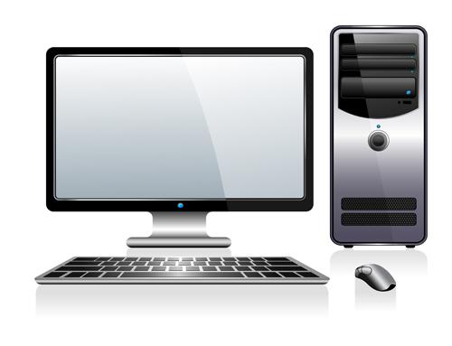 500x383 Desktop Pc Design Vectors 04 Free Download
