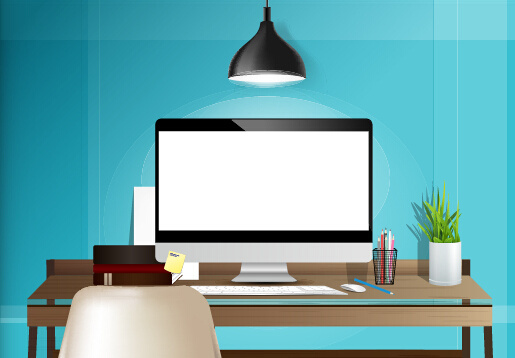 515x358 Computer Desk Chair Free Vector Download (3,789 Free Vector) For
