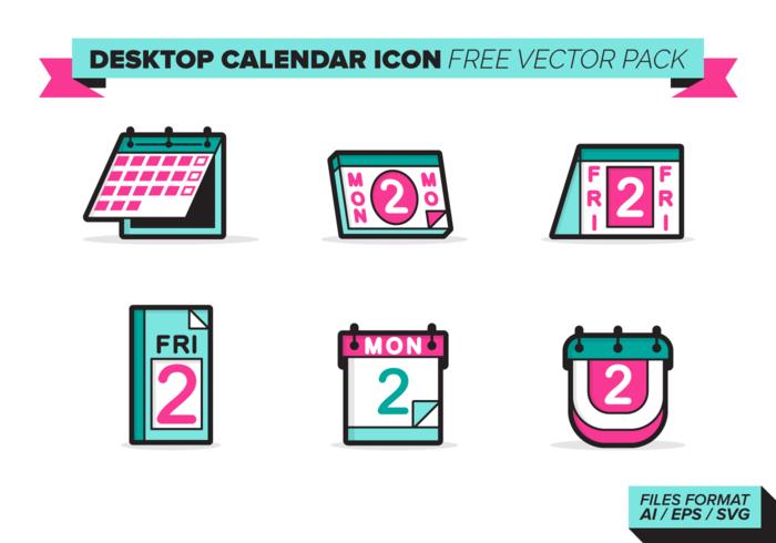 700x490 Desktop Calendar Icon Vector Pack