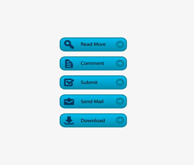 650x551 Vector Blue Desktop Icon English Title, Blue Vector, Icon Vector