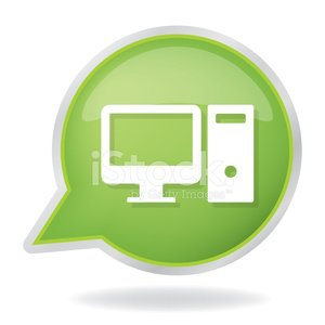 300x300 Computer Desktop Icon Vector Premium Clipart