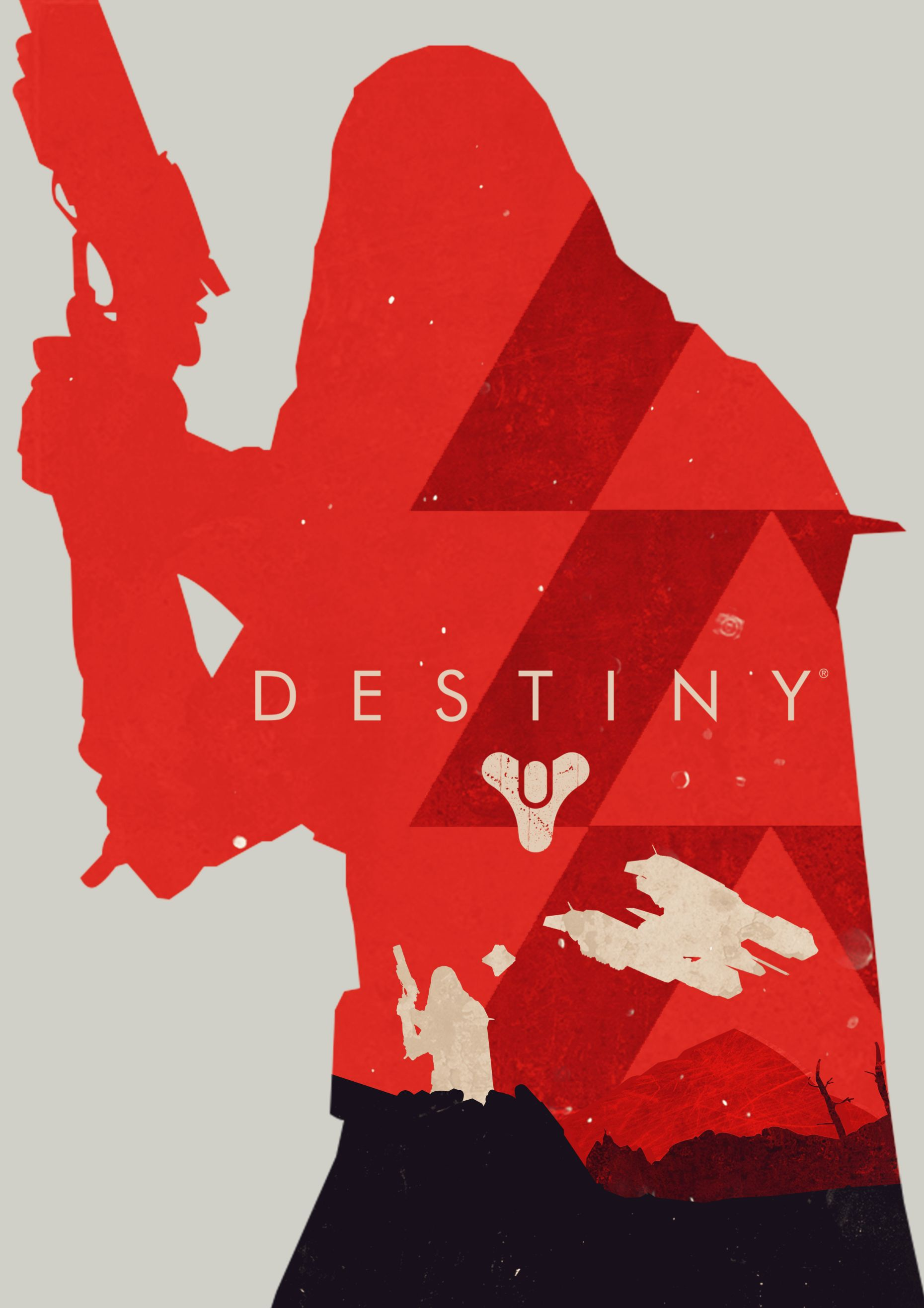 1860x2631 Destiny Hunter Vector Poster