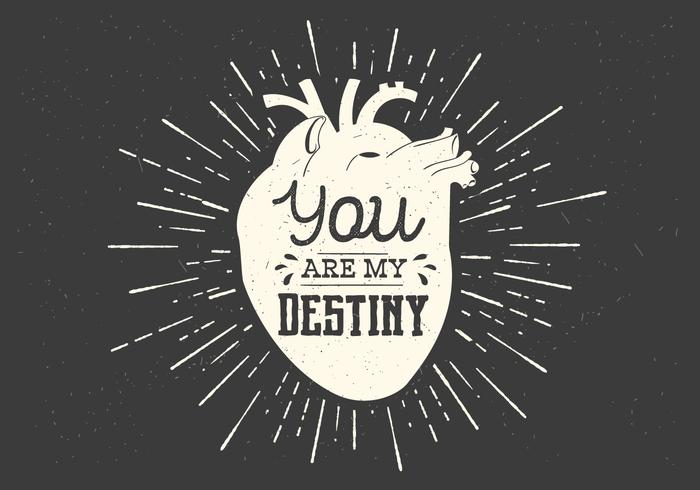 700x490 Heart Destiny Vector Typography