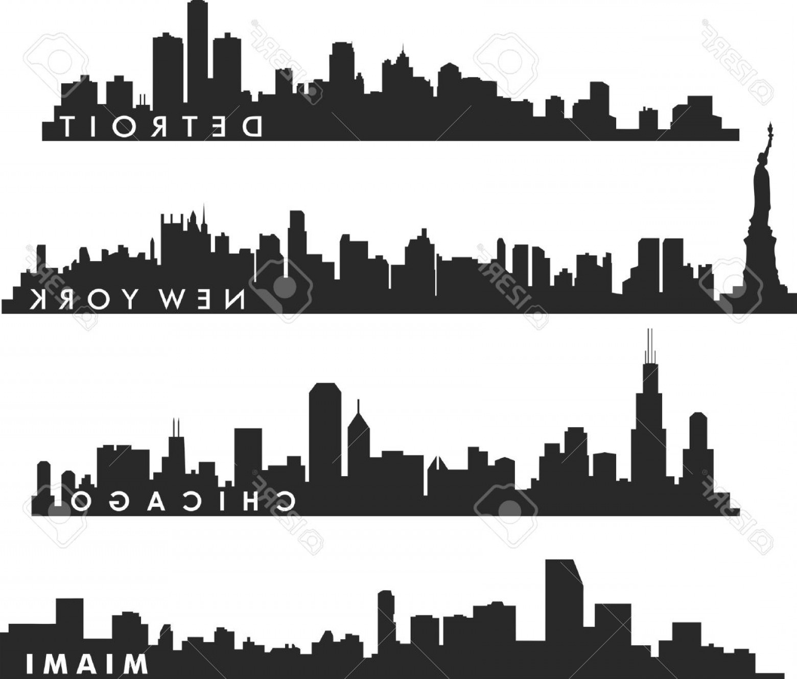 1560x1329 Detroit Skyline Vector Lazttweet