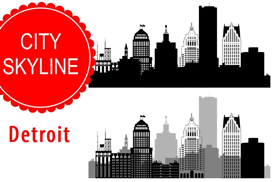 1158x772 Detroit Vector, Michigan Skyline Usa City, Svg, Jpg, Png, Dwg, Cdr