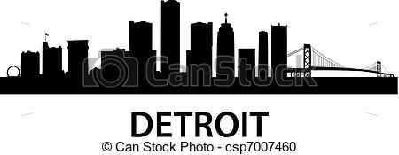 450x175 Detroit Skyline Clipart Vector And Illustration. 107 Detroit