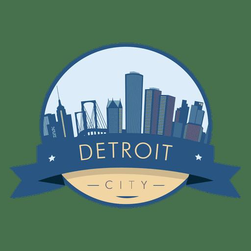 512x512 Detroit Skyline Badge