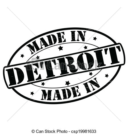 450x470 Made In Detroit. Stamp With Text Made In Detroit Inside, Vector