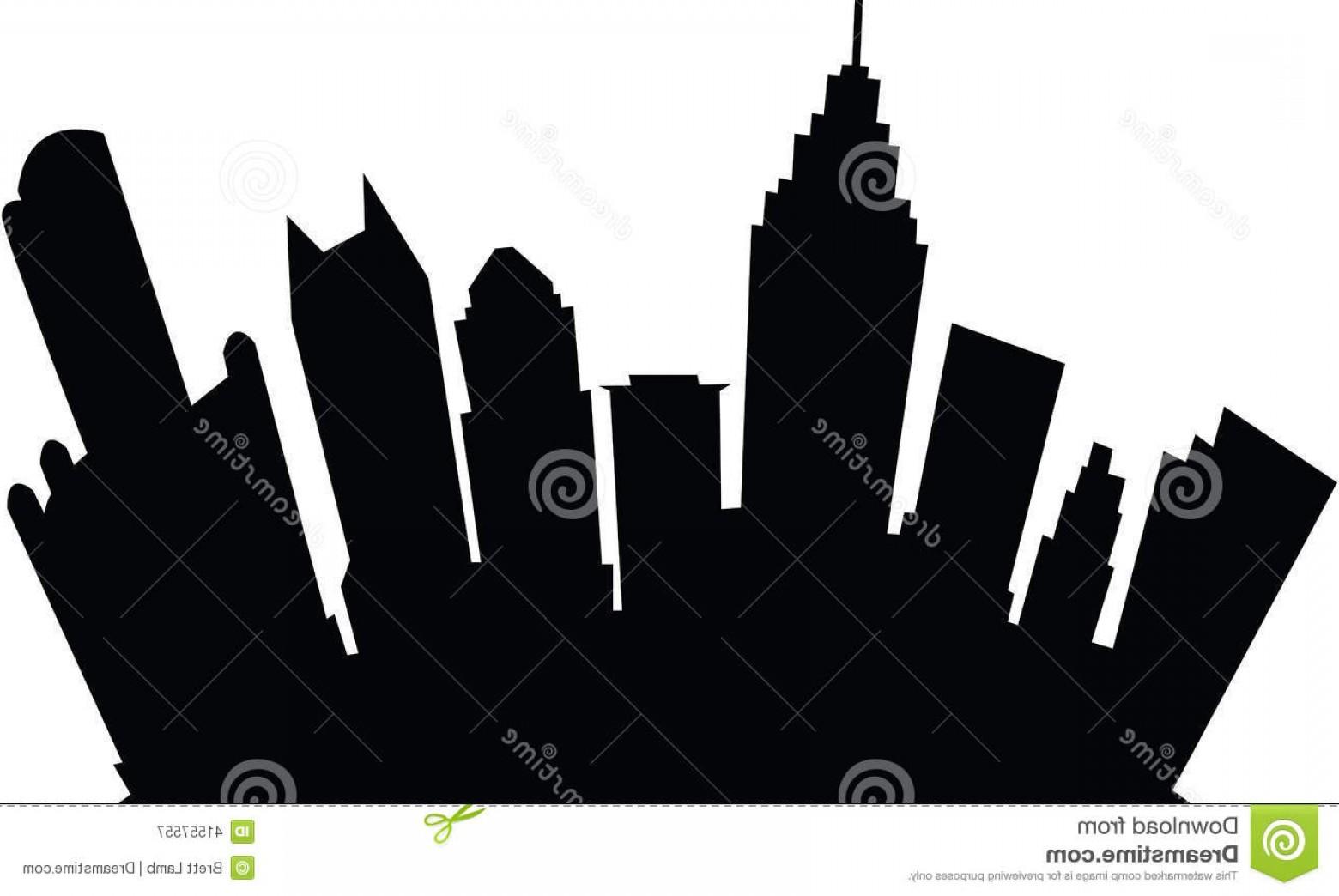 1560x1044 Stock Illustration Detroit Skyline Silhouette Usa Landmarks Black