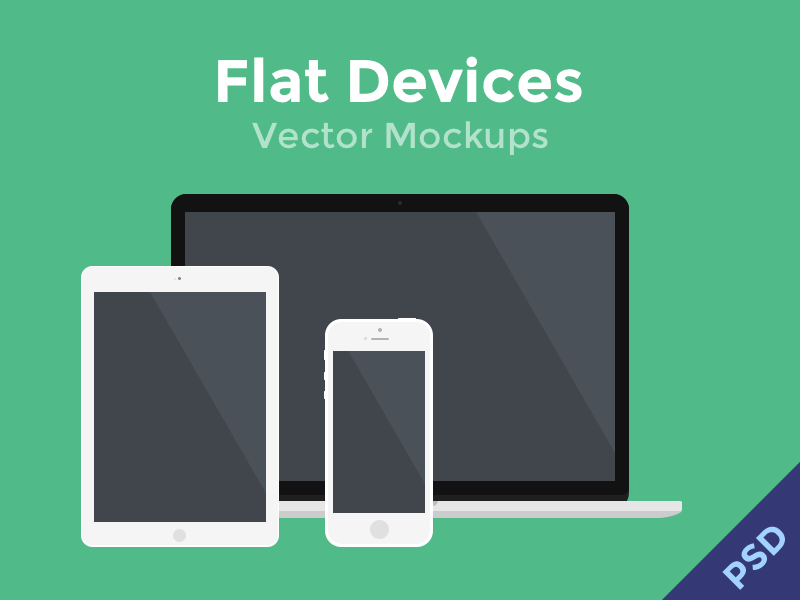 800x600 Flat Devices Vector Mockups
