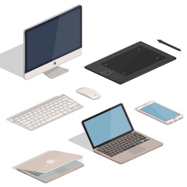 626x626 Isometric Devices Vector Free Download