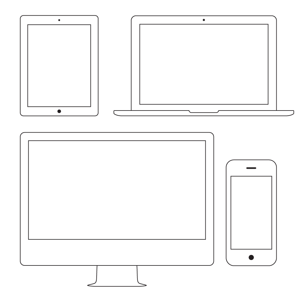 1000x1000 Outline Apple Devices (Vector)