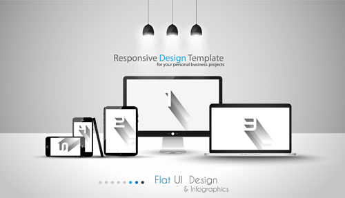 500x287 Realistic Devices Responsive Design Template Vector 04 Free Download
