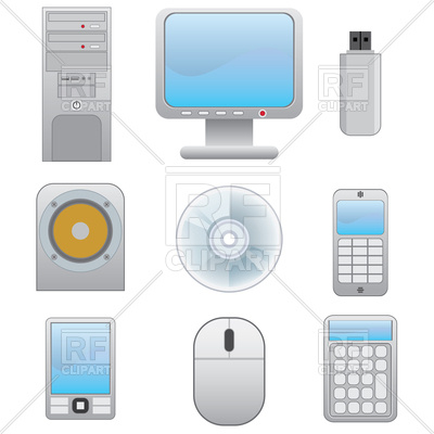 400x400 Set Of Electronic Devices Vector Image Vector Artwork Of Objects