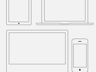 400x300 Wire Frame Apple Devices