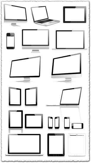 308x549 Blank Screens Of Modern Devices Vector