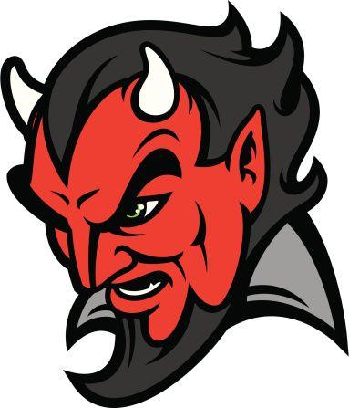 383x447 Devil Head Vector Art Illustration Devils Demons Logos In 2018