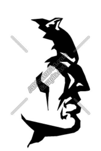 333x500 Devil Headshot Sideview Clipart And Vectorart Sports Mascots