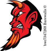 167x179 3,972 Horned Devil Vector Posters And Art Prints Barewalls