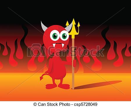 450x367 Little Devil Vector Illustration.
