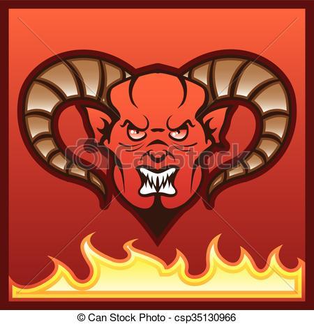 450x465 Red Demon Vector Devil.
