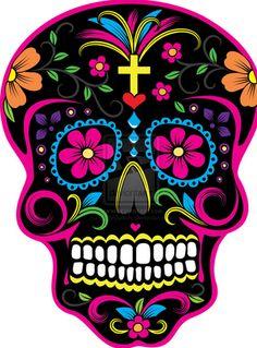 236x319 Sugar Skull Fully Coloured Mexican Day Of The Dead Skull Vector