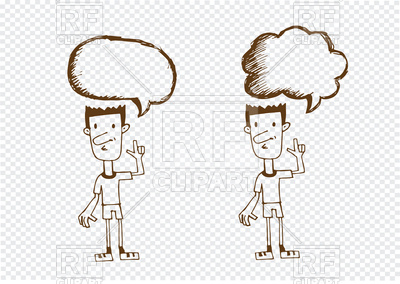 400x284 People With Speech Bubble Dialog Vector Image Vector Artwork Of