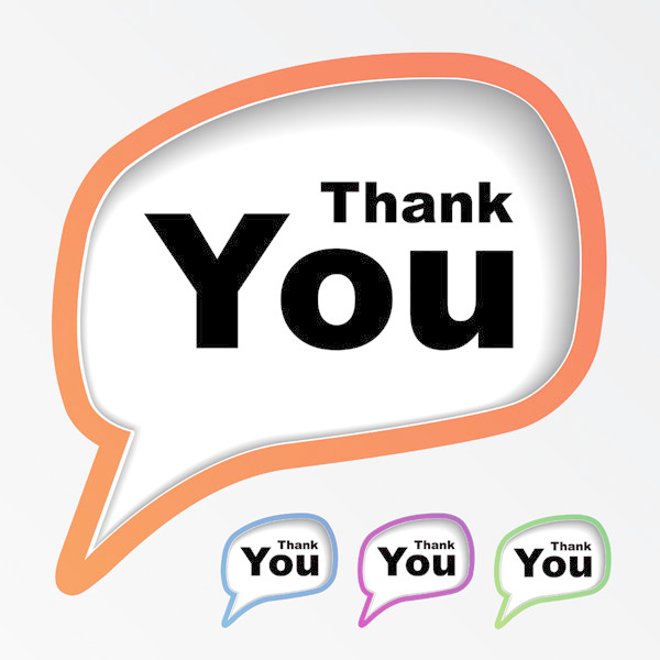 600x600 Thank You For Your Dialog Box Vector Free Download Eps Files