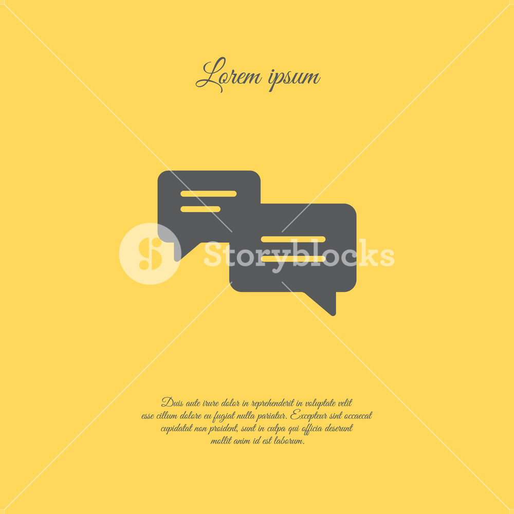 1000x1000 Web Icon. Dialog. Vector Illustration Royalty Free Stock Image