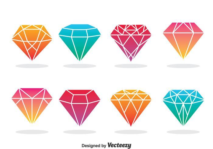 700x490 Diamond Icons Vector
