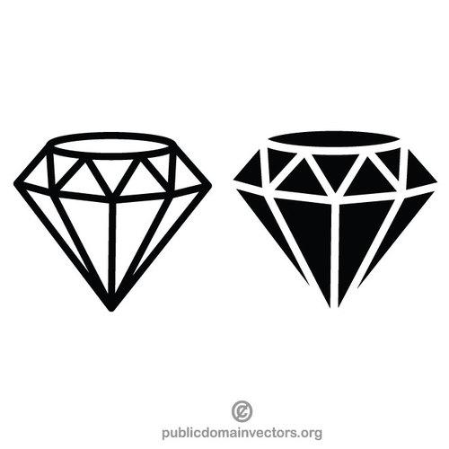 500x500 Diamond Vector Clip Art Graphics Public Domain Vectors