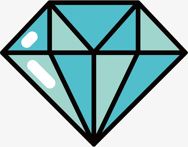 650x510 Dibujos Animados De Diamante Azul Vector Png Diamantes Diamante