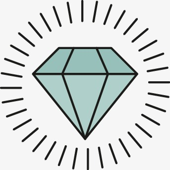 343x343 Vector De Diamante Vector Pintado A Mano Diamond Png Y Vector Para