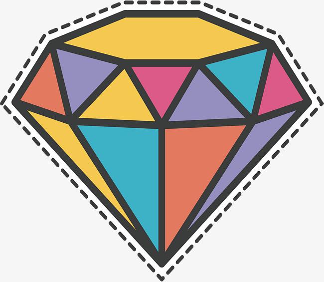 650x565 Colorido Del Diamante Vector Png Diamantes Diamante De Color Png Y