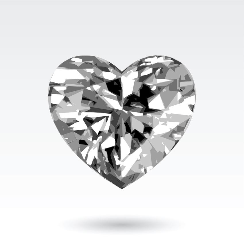 850x850 Heartshaped Vector Diamond Jewelry Pendant Free Vector 4vector