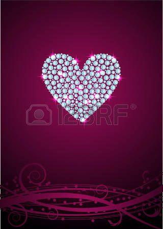 320x450 Heart Diamond Vector Hearts Misc Purple