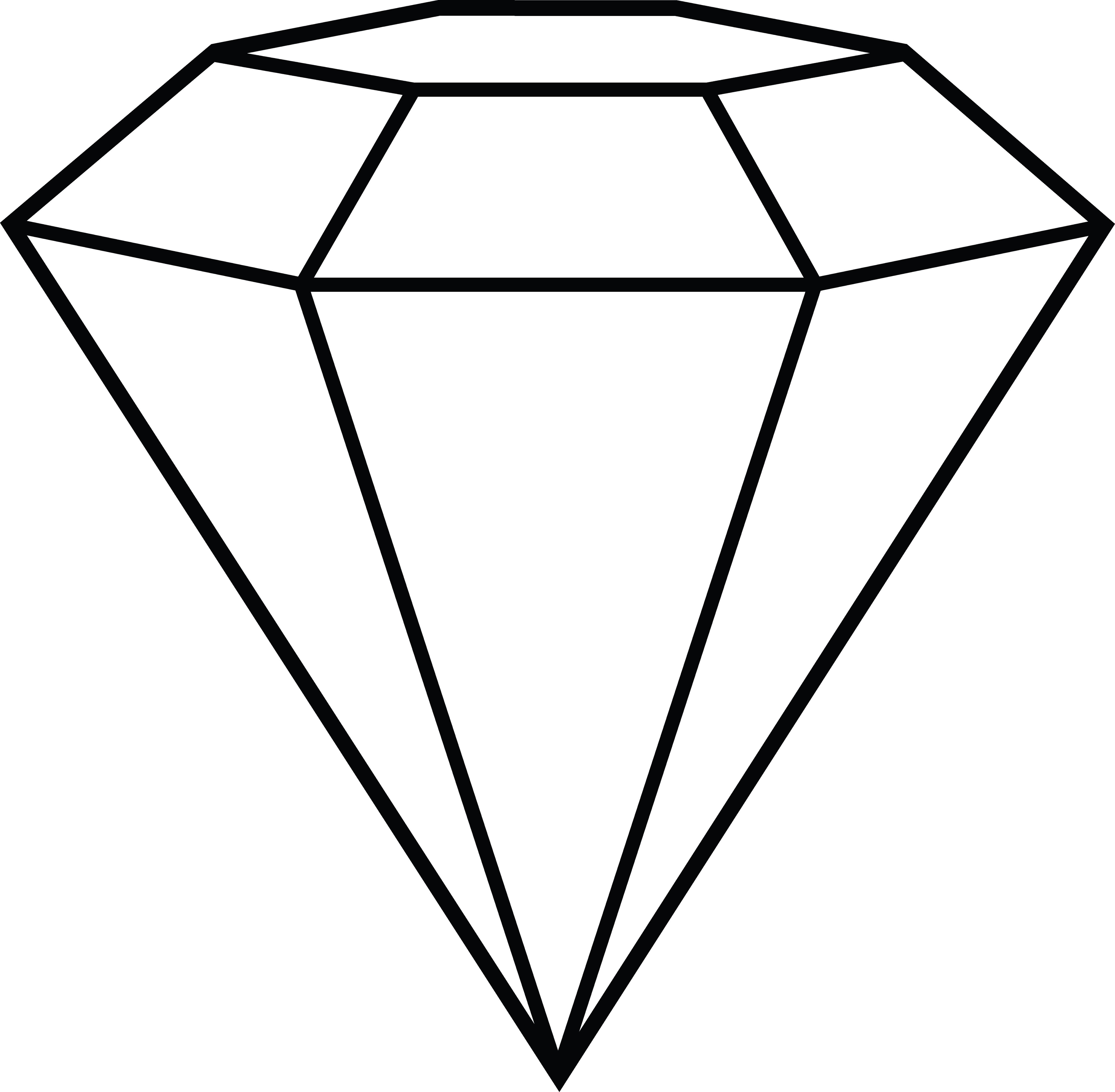 Diamond Outline Vector