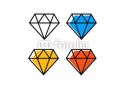400x286 Diamond Line Icon. Diamond Outline Vector Sign Buy Photos Ap