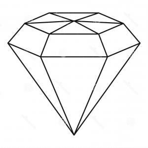 300x300 Stock Illustration Diamond Gemstone Icon Outline Style