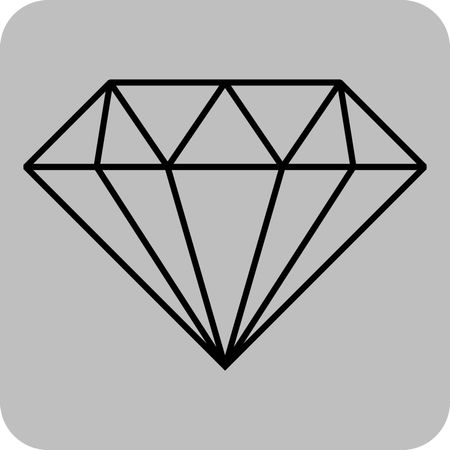 450x450 Vector Illustration Of Diamond . Outline Diamond For Web Icon In