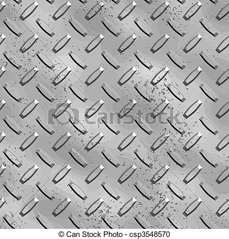 450x470 Rough Diamond Plate. A Very Large Sheet Of Grey Steel Diamond